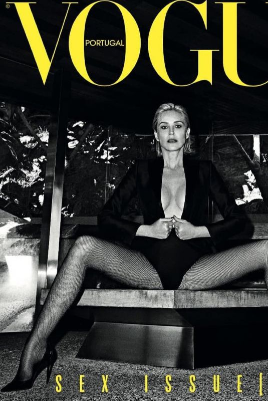 SHARON STONE in Vogue Magazine Portugal May 2019  HawtCelebs