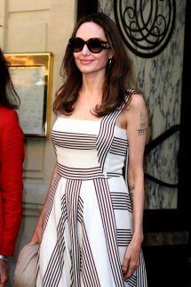 Angelina Jolie And Jacqueline Bisset Champs Elysees