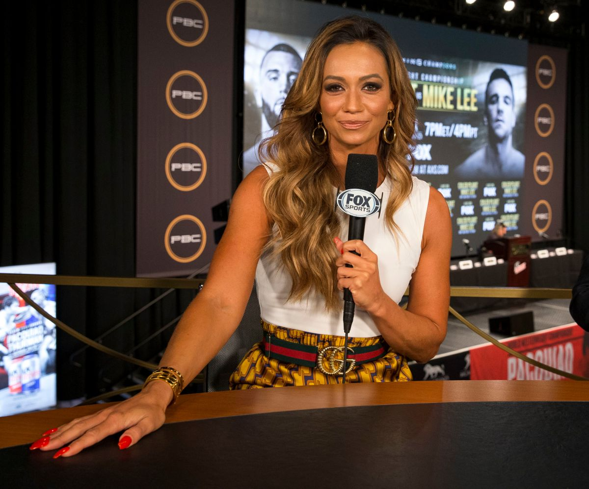 See more ideas about kate abdo, tv presenters, kate. KATE ABDO at PBC on Fox Fight Night Final Press Conference ...