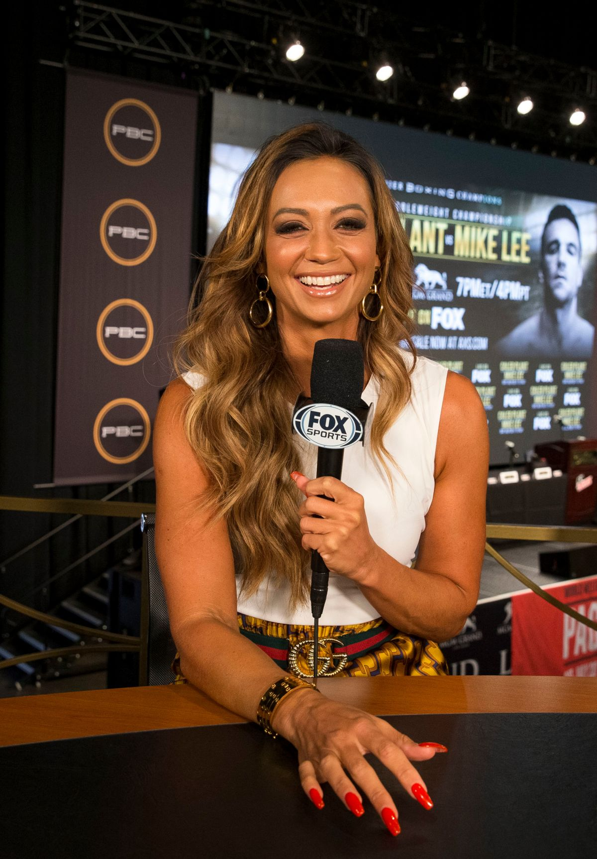 A league of their own. KATE ABDO at PBC on Fox Fight Night Final Press Conference ...