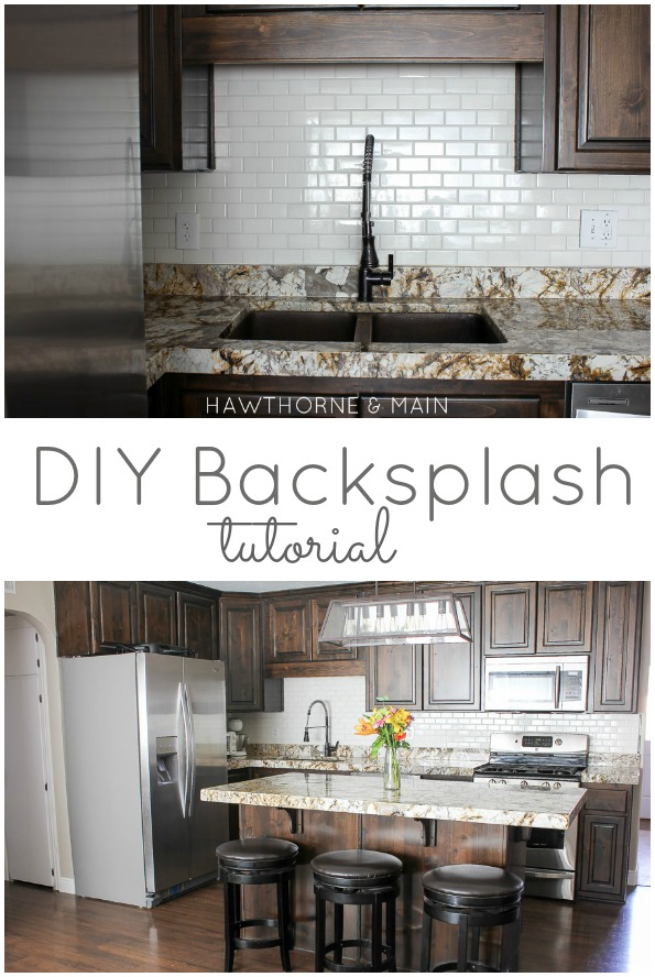 kitchen back splash cabinet replacement diy backsplash hawthorne and main