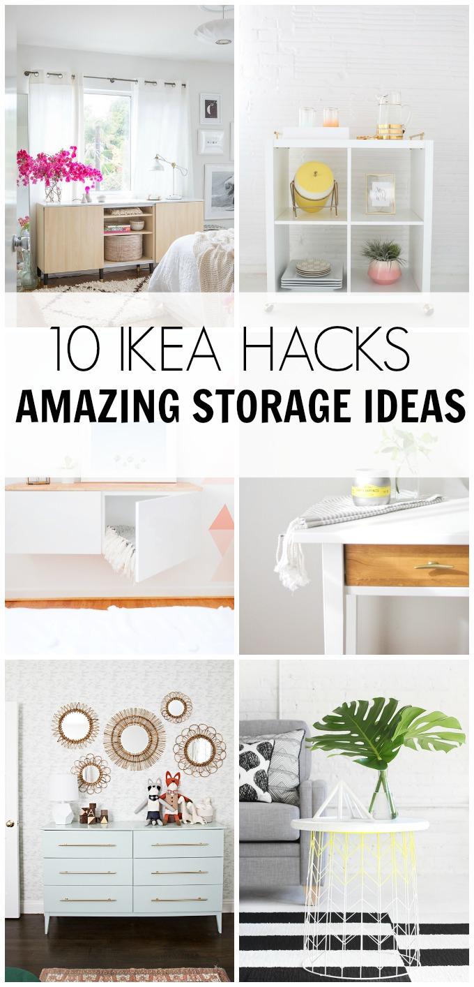 10 IKEA HACKS Amazing Storage Ideas  HAWTHORNE AND MAIN