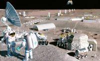 תפיסת אמן של מוצב על הירח