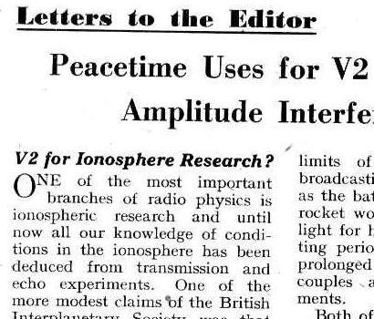 המאמר המפורסם של קלארק בו הוא מציע לבנות לוויני תקשורת, לא היה אפילו בשער של כתב העת 'עולם האלחוט', אלא סתם מכתב למערכת