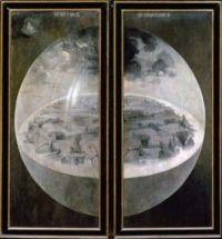 בריאת העולם, ציור מאת הירונימוס בוש, בערך משנת 1500. מוצג היום במוזיאון הפרדו במדריד