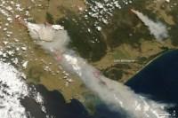 דרום מזרח אוסטרליה, בצילום מהלווין אקווה של נאס''א, 7 בפברואר 2009