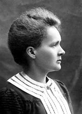מארי קירי, הזוכה הראשונה בפרס נובל לכימיה. השניה היתה בתה אירין