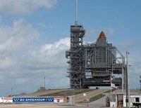 המעבורת אנדוור על כן השיגור 39A במרכז החלל קנדי בפלורידה