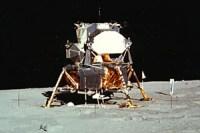המודול הירחי במשימת אפולו 11. (מקור:נאסא)