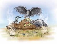 """מוזיאון בריאתני בארה""""ב - מציג בני אדם ודינוזאורים מהלכים ביחד על האדמה לפני המבול של נוח"""