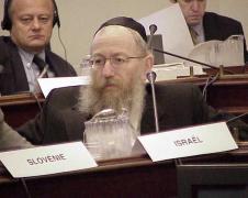 הנציג הבכיר של החרדים בכנסת, יעקב ליצמן, סגן שר הבריאות (2010) מייצג את ישראל למרבה האירוניה בכנס של ה-OCED