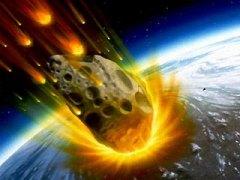 """פגיעת אסטרואיד בכדור הארץ. איור: נאס""""א"""