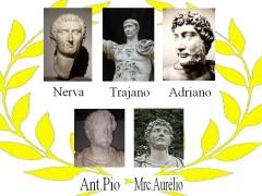 חמשת הקיסרים הנאורים - טריאנוס באמצע השורה העליונה