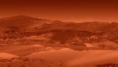 """תפיסת אמן של אגם על הירח השבתאי טיטאן. איור: נאס""""א"""