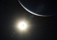 תפיסת אמן מראה את המערכת הפלנטרית מסביב לכוכב דמוי השמש HD 10180. זכויות: ESO/L Calçada