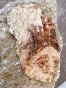 ציור קיר של אלת המזל טיכה שהתגלה בחפירות סוסיתא. צילום: אוניברסיטת חיפה