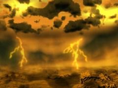 תפיסת אמן של סופות ברקים על נוגה. איור: סוכנות החלל האירופית