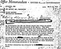 מסמך ה-FBI מ-1949. לא מתאר את רוזוול אלא אתר נחיתה אחר שהתגלה כמפוברק על ידי אדם שרצה לעשות כסף מהתיירים שיבואו לעיירתו הנידחת בניו מקסיקו