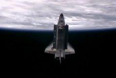 המעבורת אנדוור לאחר עזיבת תחנת החלל, 30 במאי 2011. צילום: NASA TV