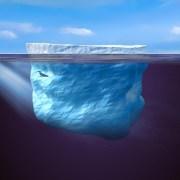 קרחון במים. הדמיה: ICE DREAM של דאסו סיסטמס