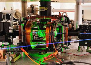 המתקן ב-NIST בו נעשה הניסוי בשזירת אטומים ביחד ליצירת QBIT