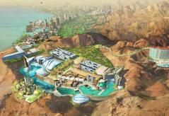 תרשים פארק מתוכנן בעקבה המבוסס על סדרת מסע בין כוכבים. באדיבות אתר greenpropghet