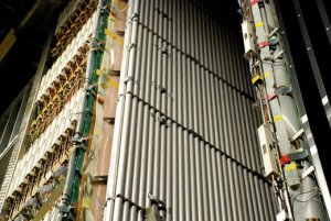 גלאי הניוטרינו בגראן סאסי באיטליה, שם התגלו חלקיקים שלכאורה מהירים מהאור