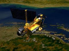 """הדמית אמן של הלווין UARS. איור: נאס""""א"""