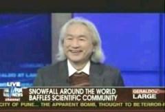 """מתוך דיון ברשת פוקס, באירועי סופת החורף של 2010, שבו ניסו להספיד את ההתחממות הגלובלית ולהחליפה ב""""שינויי אקלים לכאן ולכאן"""". צילום מסך"""