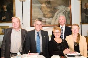 פרופ' שכטמן בארוחת הערב עם הקהילה העסקית של שטוקהולם, ביוזמת קרן אדם-בונייר. צילום: דוברות הטכניון