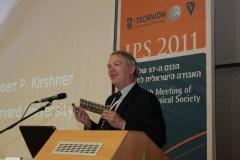 פרופ' רוברט קירשנר בכנס האגודה הישראלית לפיסיקה שהתקיים בטכניון, 25/12/2011