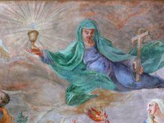 אמונה, אהבה, תקווה - ציור תקרה בכנסיית סאן מיכאל בעיר Untergriesbach בגרמניה. מתוך ויקימדיה