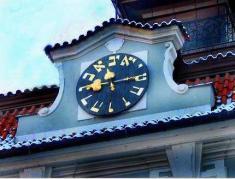 השעון בעל האותיות העבריות בפארג. צילום: אוניברסיטת תל-אביב