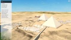 עמק המלכים בגיזה שבמצרים, מראה מבחוץ, מתוך הדמית תלת-ממד של חברת דאסו סיסטמס