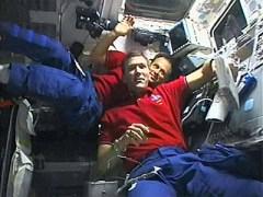 מפקד הקולומביה בטיסה STS-107 ריק האסבנד והאסטרונאוט הישראלי אילן רמון