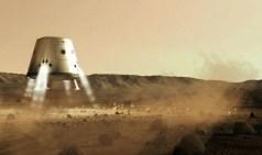 תפיסת אמן של נחתת מארס וואן על מאדים, גרסה של החללית דראגון של SpaceX.