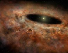 האבק נעלם מסביב לכוכב המכונה TYC 8241 2652. צילום: אוניברסיטת קליפורניה