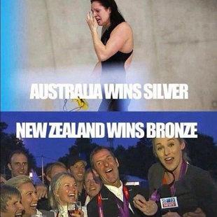 אוסטרליה זוכה במדלית כסף, ניו זילנד בארד