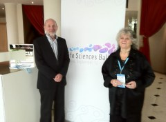 זאב זליג, מנכ,ל ג'נזיים ישראל ופרופ' עדה יונת, כלת פרס נובל, בכנס Life Siences Baltics; ספטמבר 2012, צילום: אבי בליזובסקי