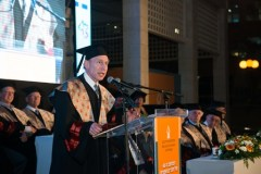 """פרופ רוברט לנגר בטקס קבלת ד""""ר כבוד באוניברסיטת בן גוריון, מאי 2013"""