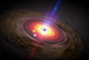 חומר מקיף חור שחור. (NASA/Dana Berry/SkyWorks Digital)