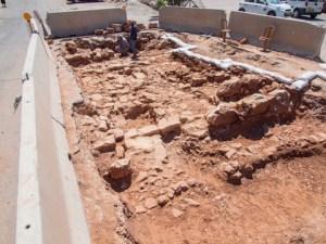 דרך רומאית שנחשפה בירושלים. צילום: אסף פרץ, באדיבות רשות העתיקות
