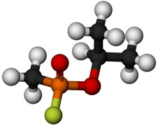 המולקולה של הגז סארין. מתוך ויקיפדיה