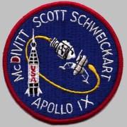 """תג משימת אפולו 9. צילום: נאס""""א"""