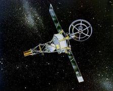 """החללית מרינר 2 בחלל. איור: נאס""""א"""