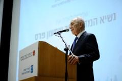 נשיא המדינה שמעון פרס ביום המדע, באוניברסיטה העברית, 26/3/2014. צילום: יואב ארי דודקביץ