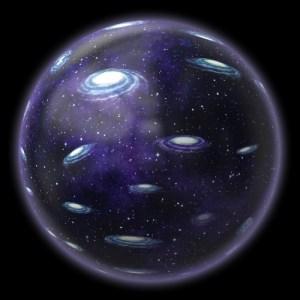 היקום המתפשט. איור: מתוך ויקיפדיה