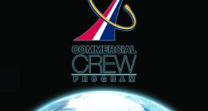"""לוגו תוכנית הטיסות המאוישות המסחריות Commercial Crew. איור: נאס""""א"""
