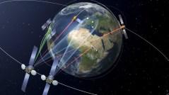 איור של מערכת EDRS להעברת נתונים מהחלל. קרדיט: סוכנות החלל האירופית
