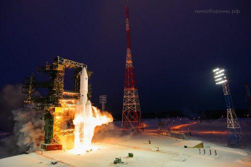 השיגור הראשון של משגר אנגארה מקוסמודרום פלסצק ברוסיה, 23/12/14. צילום: סוכנות החלל הרוסית